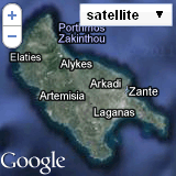 Satellite Location of Two Brothes Studios in Kalamaki Zakynthos